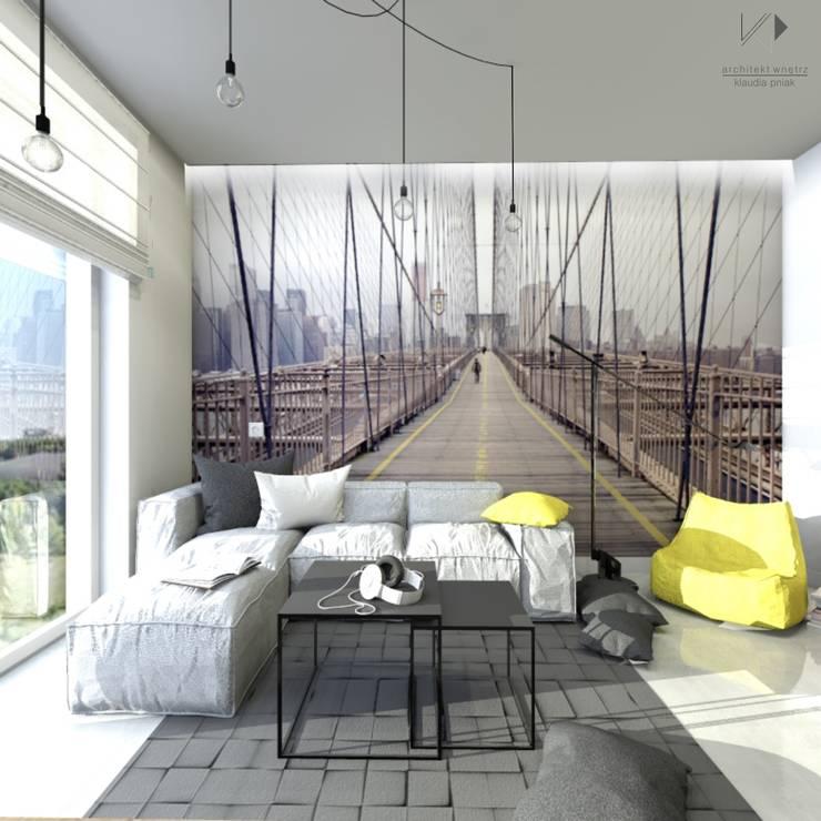 Pokój nastolatka - fototapeta : styl , w kategorii Pokój dziecięcy zaprojektowany przez Architekt wnętrz Klaudia Pniak,Nowoczesny