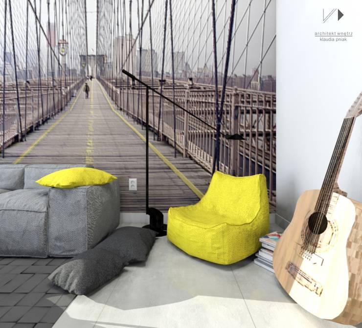 Miejsce relaksu : styl , w kategorii Pokój dziecięcy zaprojektowany przez Architekt wnętrz Klaudia Pniak,Nowoczesny