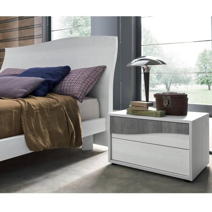 'Wave' design bedroom night stand:  Bedroom by My Italian Living