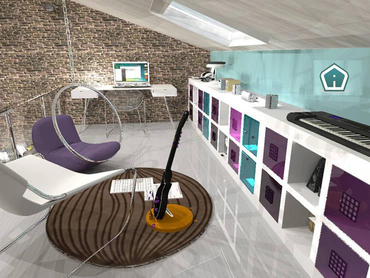 Salas de entretenimiento de estilo  por 3d Casa Design