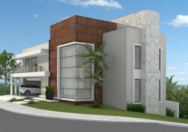 Residência ER55 - La Defense: Casas  por Saad.Ribeiro Arquitetura e Interiores