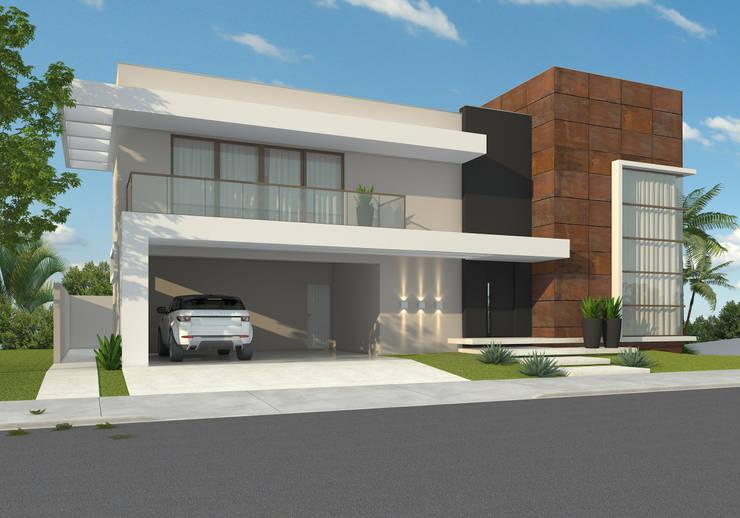 Residência ER55 – La Defense: Casas  por Saad.Ribeiro Arquitetura e Interiores