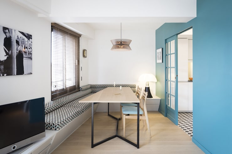 Dining room by MELANIE LALLEMAND ARCHITECTURES
