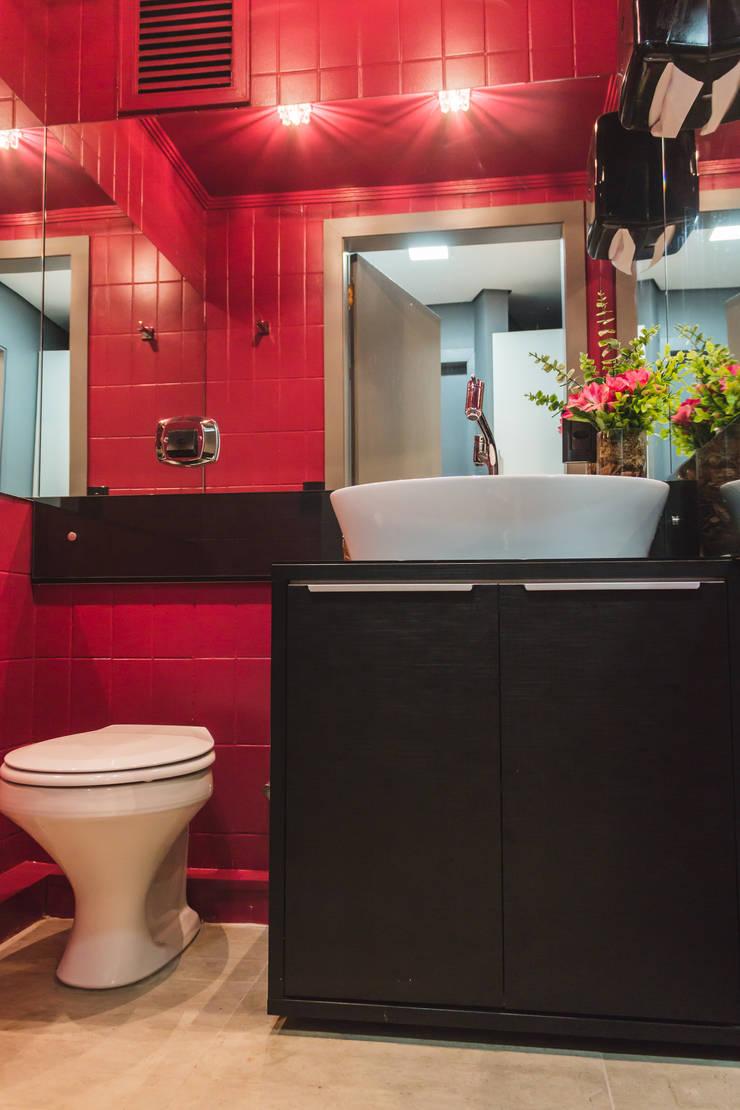 Lavabo: Banheiros  por Vanessa Mondin _Arquitetura e Interiores