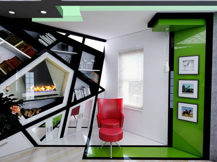 Abb Design Studio – Concept (Living Room) – RU: modern tarz Oturma Odası