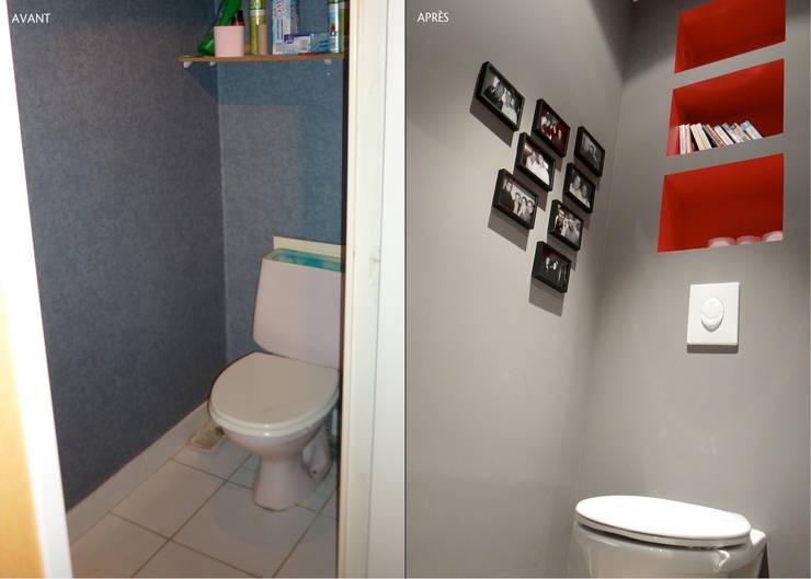 UN REFUGE URBAIN À NANTES: Salle de bains de style  par UN AMOUR DE MAISON