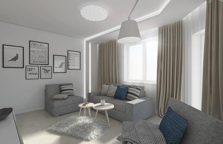SCANDINAVIAN LIVING: styl , w kategorii Salon zaprojektowany przez Creoline,