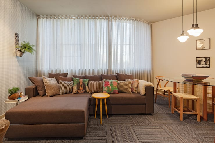 Loft M: Salas de estar modernas por Dubal Arquitetura e Design