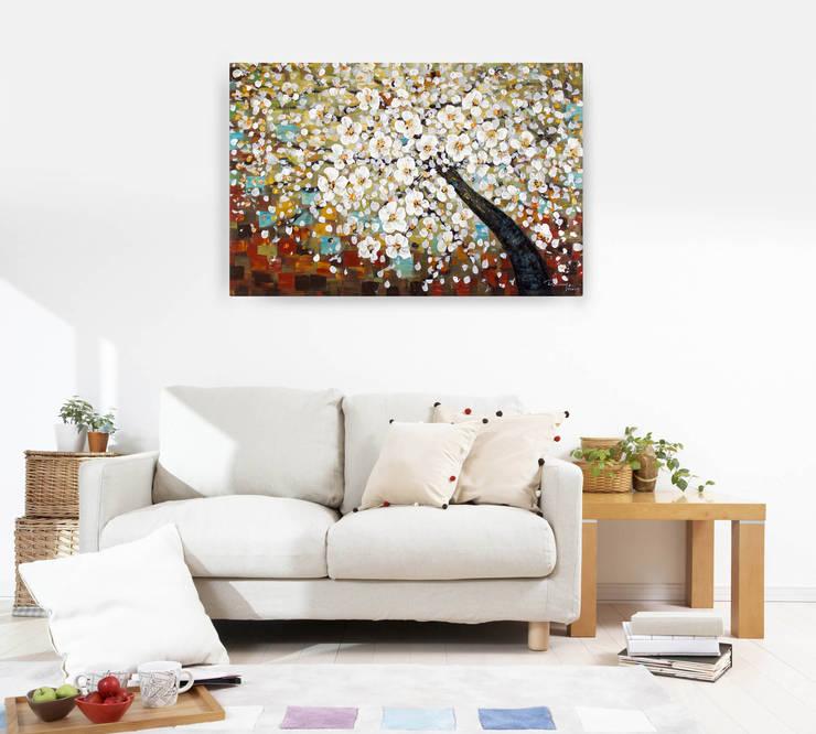 Acryl Gemälde 'Zauber im Baumwipfel' 120x80cm:  Kunst  von KUNSTLOFT