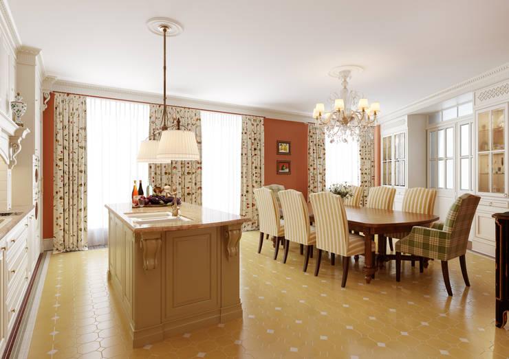 Квартира на Весковском переулке: Столовые комнаты в . Автор – MARION STUDIO,