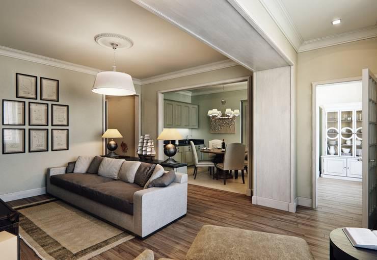 Квартира на Проспекте Мира: Гостиная в . Автор – MARION STUDIO
