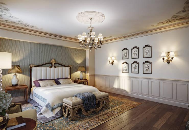 Dormitorios de estilo  por MARION STUDIO