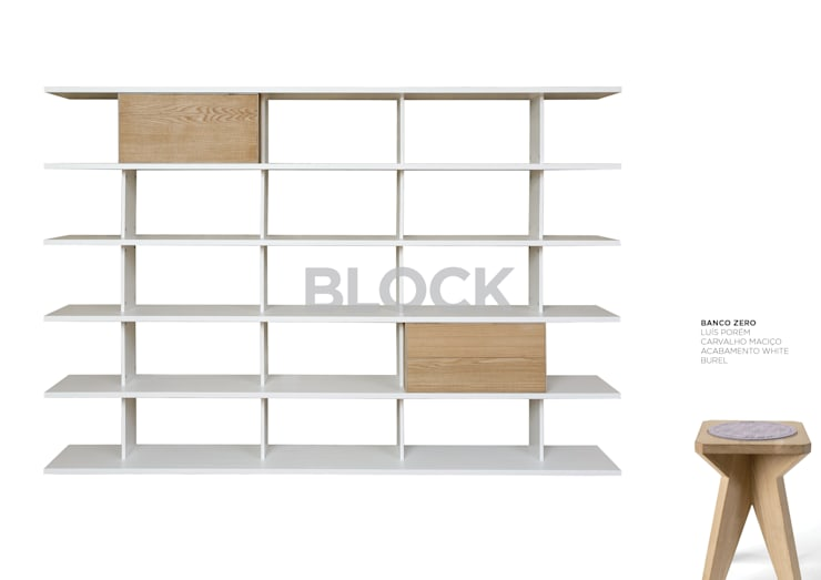 Estante modular Block: Casa  por Boa Safra
