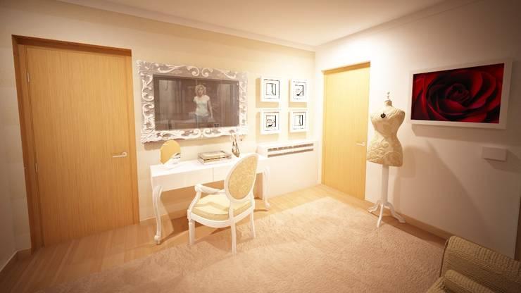 Projecto de Decoração 3D - By Andreia Louraço Design e Interiores:   por Andreia Louraço - Designer de Interiores (Contacto: atelier.andreialouraco@gmail.com),Clássico