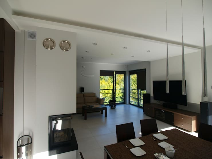 Dom Babidół: styl , w kategorii Salon zaprojektowany przez Pracownia Projektowa Wioleta Stanisławska