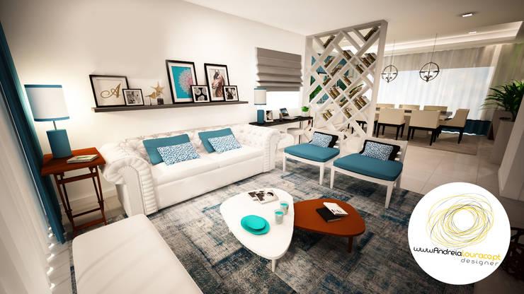 Living room by Andreia Louraço - Designer de Interiores (Contacto: atelier.andreialouraco@gmail.com)