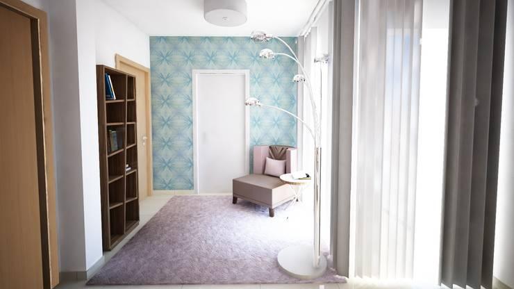 Projecto de Decoração - Suite - by Andreia Louraço Design e Interiores: Closets  por Andreia Louraço - Designer de Interiores (Contacto: atelier.andreialouraco@gmail.com)
