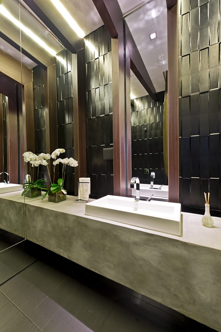 Casa Cor 2012 – Lavabo Social: Espaços comerciais  por Saad.Ribeiro Arquitetura e Interiores