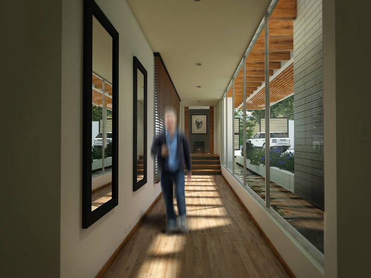 Pasillos y recibidores de estilo  por Gliptica Design