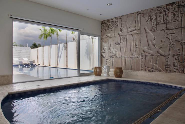 obra residêncial scs Spa moderno por Sandra Sanches Arq e Design de Interiores Moderno