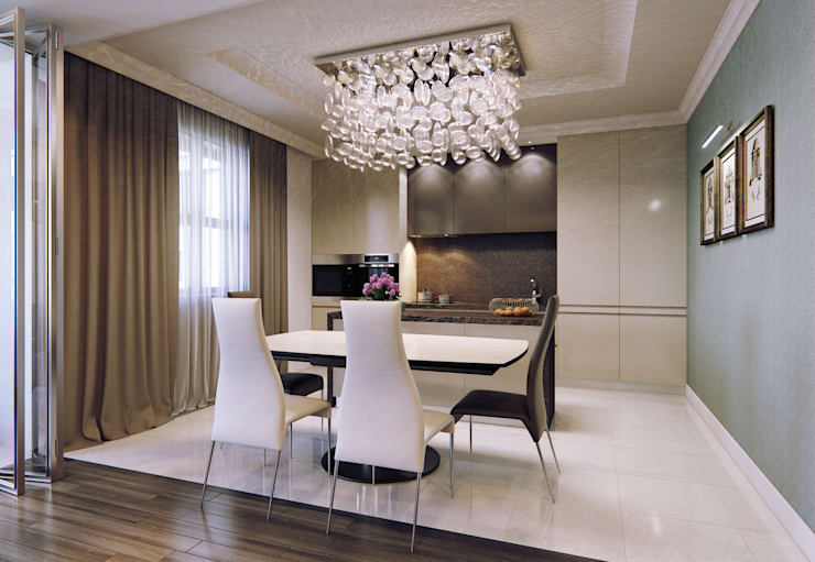 Квартира в ЖК Дом в Хамовниках: Кухни в . Автор – MARION STUDIO,