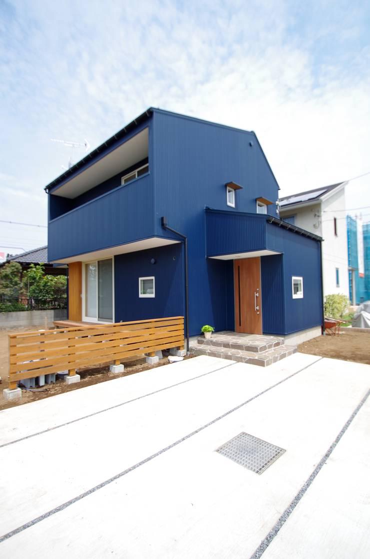 外観: K+Yアトリエ一級建築士事務所が手掛けた家です。,北欧