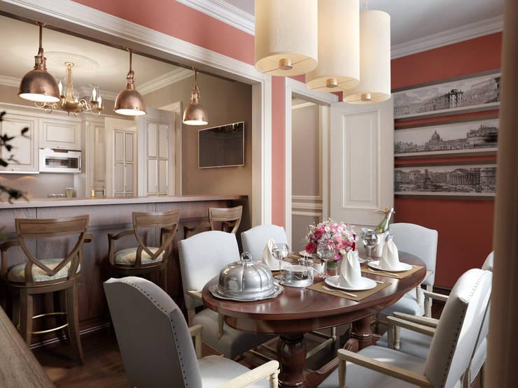 Квартира в ЖК Измайловский: Кухни в . Автор – MARION STUDIO,