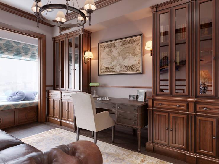Квартира в ЖК Измайловский: Рабочие кабинеты в . Автор – MARION STUDIO