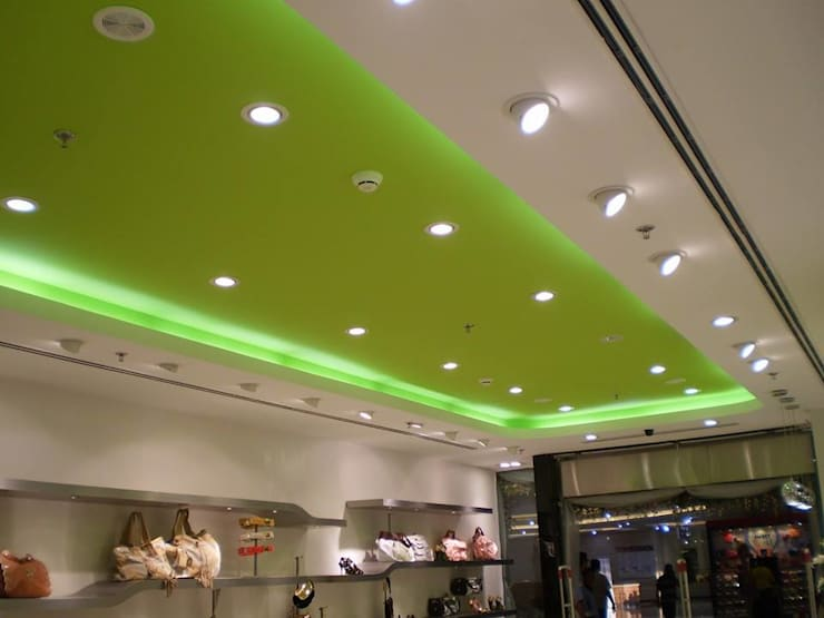 False Ceiling and Electrical work:  Houses by The Bright Interiors