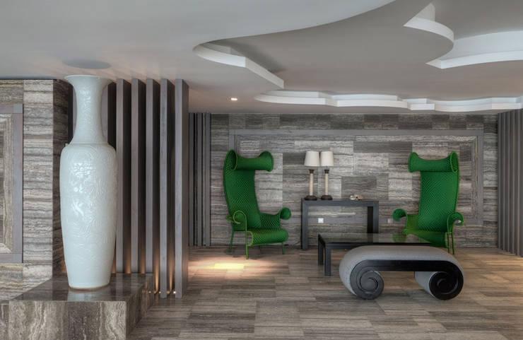 Timeless with a twist: Corredores e halls de entrada  por Viterbo Interior design