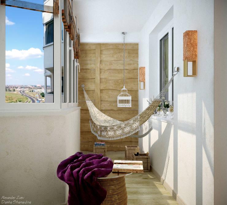Дизайн балкона по ул. Покрышкина: Tерраса в . Автор – Студия интерьерного дизайна happy.design