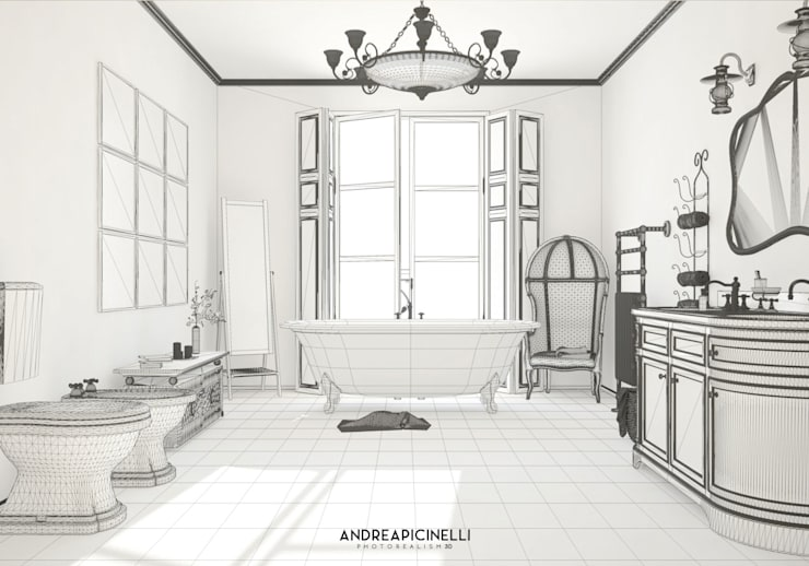 Bathroom by Andrea Picinelli