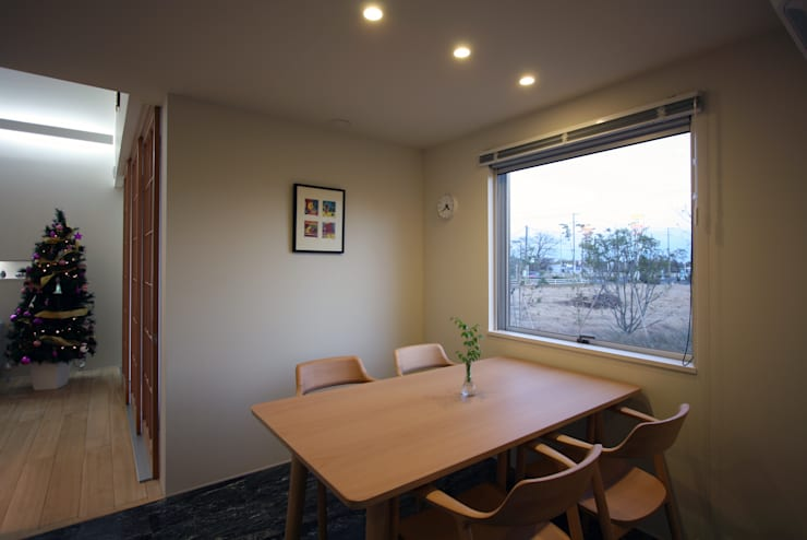 N-SOHO: 有限会社トレック建築設計室 一級建築士事務所が手掛けたダイニングです。,