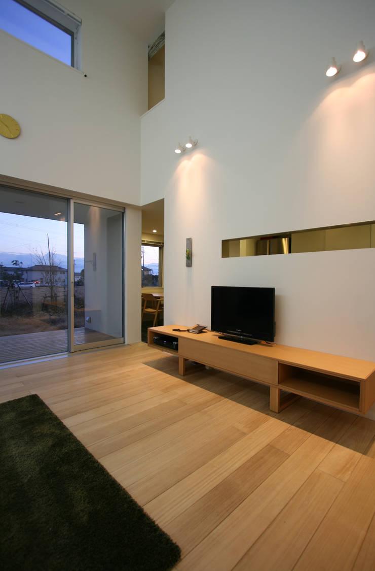 N-SOHO: 有限会社トレック建築設計室 一級建築士事務所が手掛けたリビングです。,
