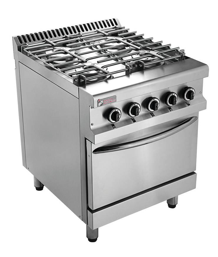 Cocina Serie 700 Hi Tech: Cocinas de estilo industrial por Ingeniería Gastronómica