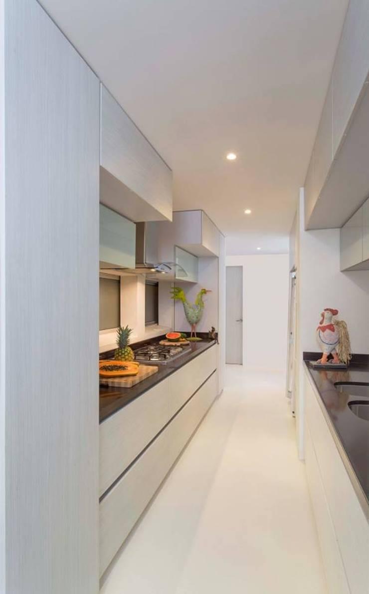 Casa Galeria: Cocinas de estilo  por Giovanni Moreno Arquitectos