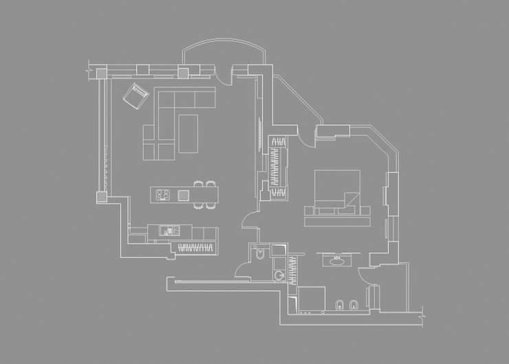 Спальни в . Автор – kvartalstudio