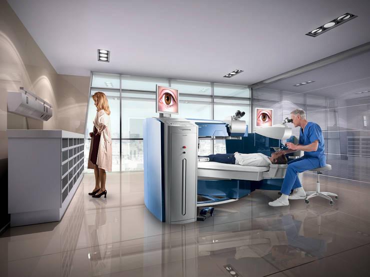 CITO (Centro de Investigaciones y Tratamiento Ocular): Clínicas y consultorios médicos de estilo  por Brunzini Arquitectos & Asociados