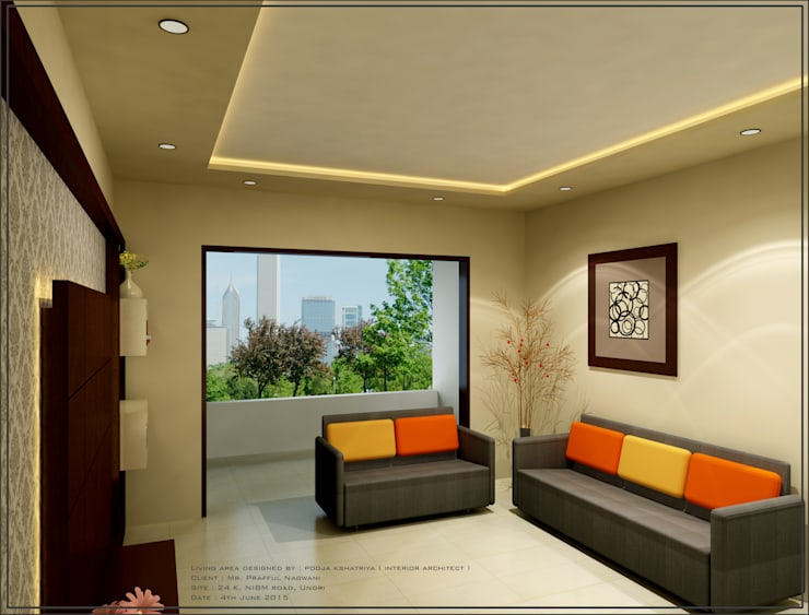 Living Area:  Living room by pooja.vjk