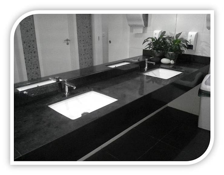 Balcões para wc em Granito: Casas de banho  por BELGRAN, LDA