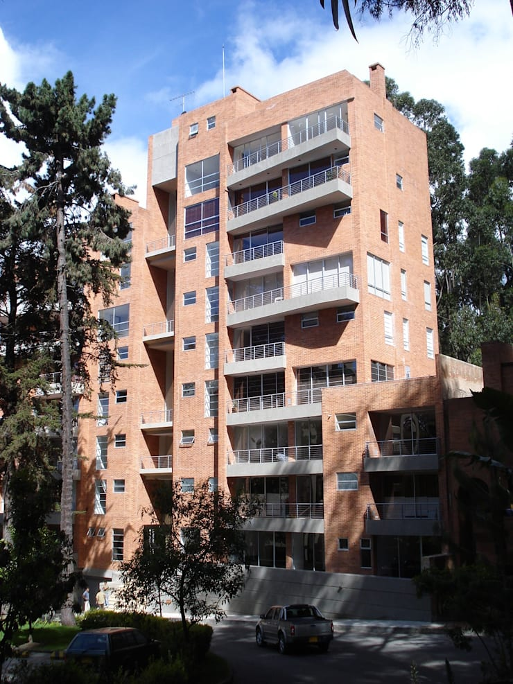Edificio Terrazas de Medina: Casas de estilo  por Vertice Oficina de Arquitectura