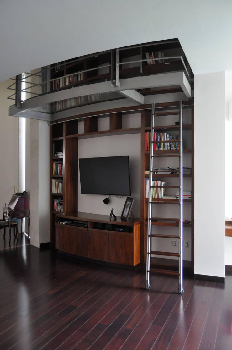 CASA AGULU: Estudios y oficinas de estilo  por Vito Ascencio y Arquitectos