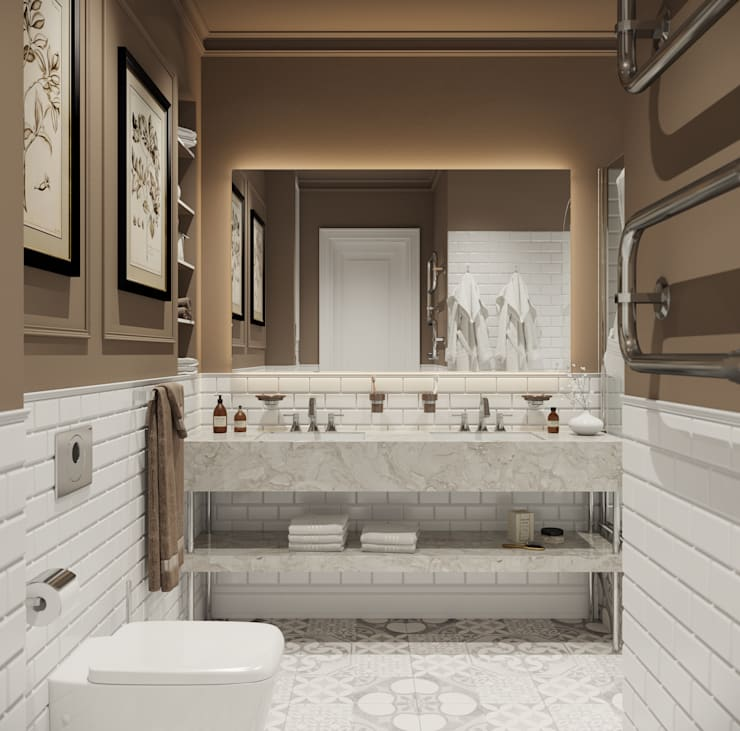 ЖК Речной: Ванные комнаты в . Автор – ПЛАНИРОВОЧКА