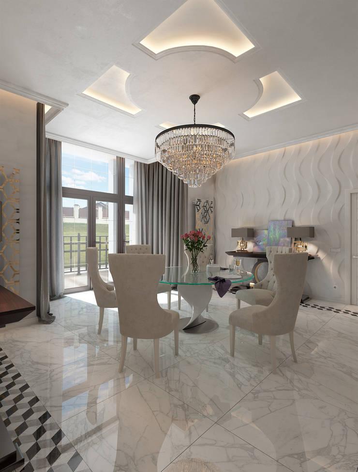Дизайн-проект коттеджа: Столовые комнаты в . Автор – MONTE FEE INTERIOR DESIGN STUDIO