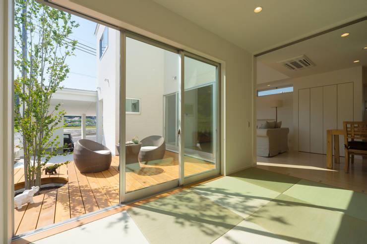 囲い庭の家 和室 の フォーレストデザイン一級建築士事務所