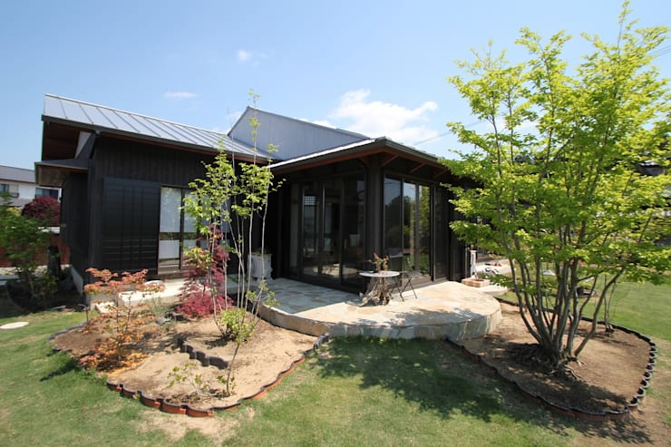 骨董建具の家: 大出設計工房 OHDE ARCHITECT STUDIOが手掛けた家です。