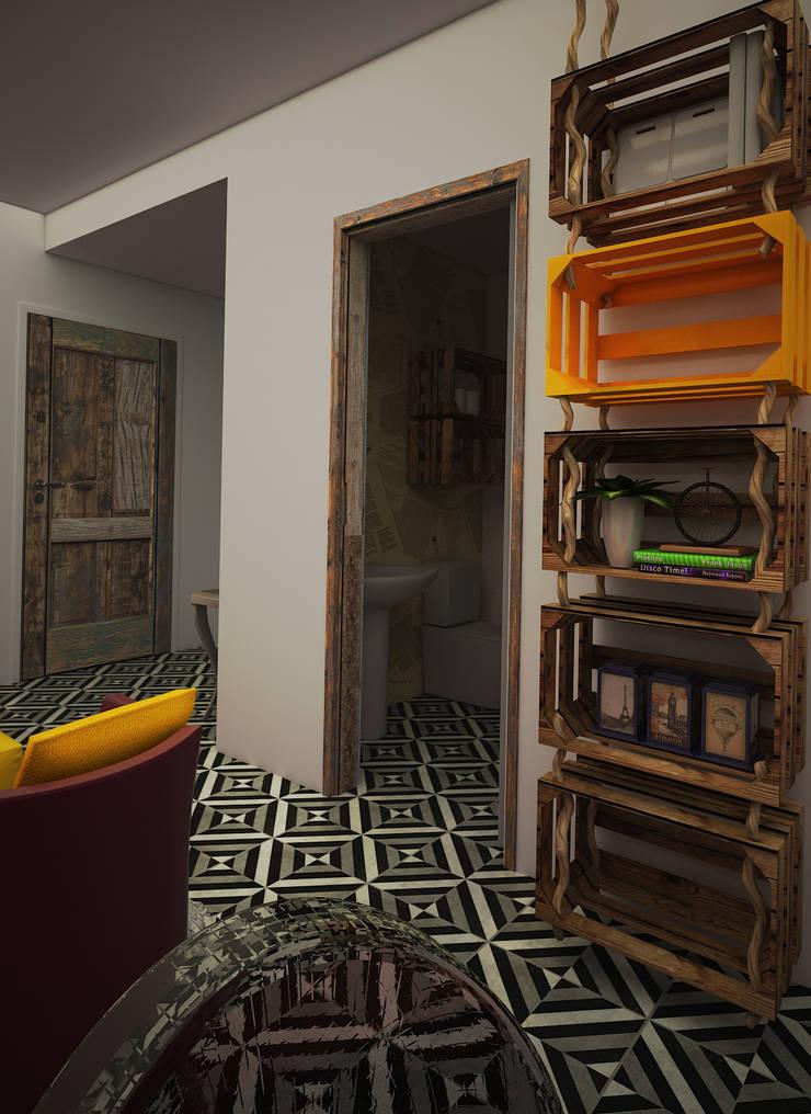 Casa EGR: Baños de estilo  por Rotoarquitectura