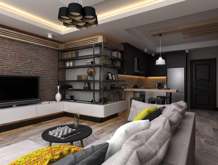 Projekty,  Salon zaprojektowane przez Ceren Torun Yiğit
