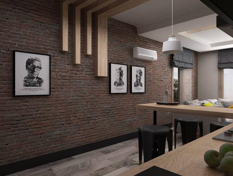 Ceren Torun Yiğit  – Stüdyo Daire Tasarımı:  tarz Mutfak, Minimalist