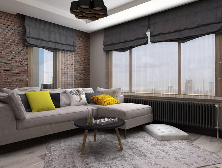 Ceren Torun Yiğit  – Stüdyo Daire Tasarımı:  tarz Oturma Odası